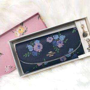 COACH Peony Slim Envelope Wallet Boxed Set